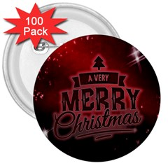 Christmas Contemplative 3  Buttons (100 Pack)