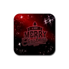 Christmas Contemplative Rubber Square Coaster (4 Pack)