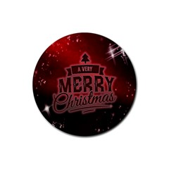 Christmas Contemplative Rubber Round Coaster (4 Pack)