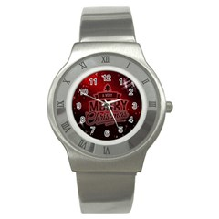 Christmas Contemplative Stainless Steel Watch