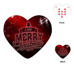 Christmas Contemplative Playing Cards (heart)