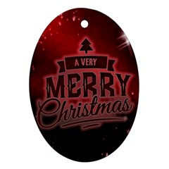 Christmas Contemplative Oval Ornament (Two Sides)