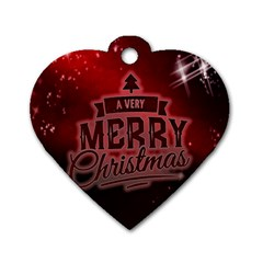 Christmas Contemplative Dog Tag Heart (Two Sides)