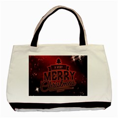 Christmas Contemplative Basic Tote Bag (Two Sides)
