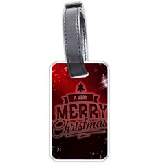 Christmas Contemplative Luggage Tags (two Sides)