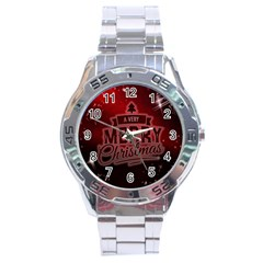 Christmas Contemplative Stainless Steel Analogue Watch