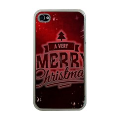 Christmas Contemplative Apple iPhone 4 Case (Clear)