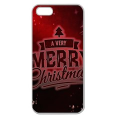 Christmas Contemplative Apple Seamless Iphone 5 Case (clear)