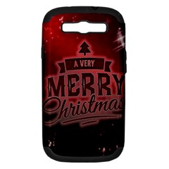 Christmas Contemplative Samsung Galaxy S Iii Hardshell Case (pc+silicone)