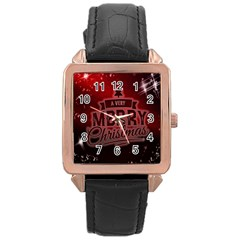 Christmas Contemplative Rose Gold Leather Watch