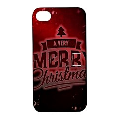 Christmas Contemplative Apple Iphone 4/4s Hardshell Case With Stand