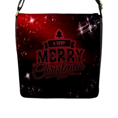 Christmas Contemplative Flap Messenger Bag (l)