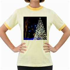 Christmas Card Christmas Atmosphere Women s Fitted Ringer T-Shirts