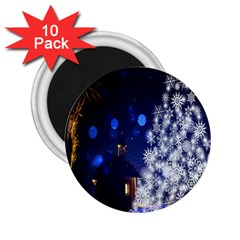 Christmas Card Christmas Atmosphere 2.25  Magnets (10 pack)