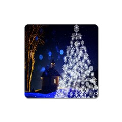 Christmas Card Christmas Atmosphere Square Magnet