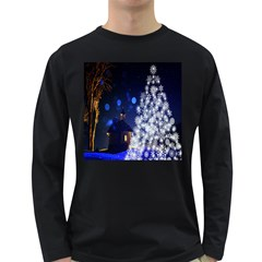 Christmas Card Christmas Atmosphere Long Sleeve Dark T-Shirts