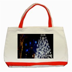 Christmas Card Christmas Atmosphere Classic Tote Bag (Red)