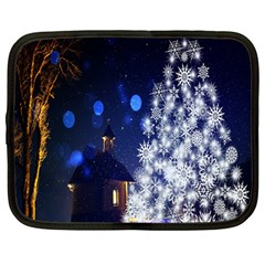 Christmas Card Christmas Atmosphere Netbook Case (Large)