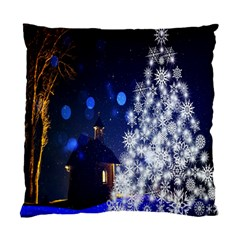 Christmas Card Christmas Atmosphere Standard Cushion Case (One Side)