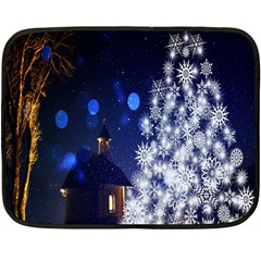 Christmas Card Christmas Atmosphere Fleece Blanket (Mini)