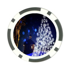 Christmas Card Christmas Atmosphere Poker Chip Card Guard (10 pack)