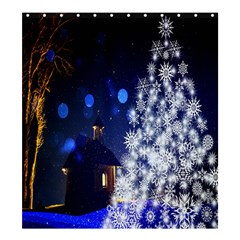 Christmas Card Christmas Atmosphere Shower Curtain 66  x 72  (Large)