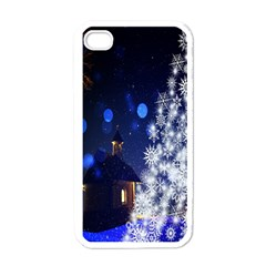 Christmas Card Christmas Atmosphere Apple iPhone 4 Case (White)