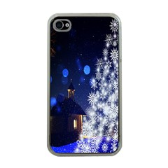 Christmas Card Christmas Atmosphere Apple iPhone 4 Case (Clear)