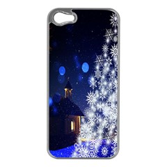 Christmas Card Christmas Atmosphere Apple Iphone 5 Case (silver)