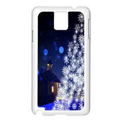 Christmas Card Christmas Atmosphere Samsung Galaxy Note 3 N9005 Case (white)