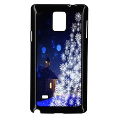 Christmas Card Christmas Atmosphere Samsung Galaxy Note 4 Case (Black)