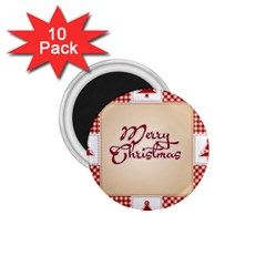 Christmas xmas Patterns Pattern 1.75  Magnets (10 pack)