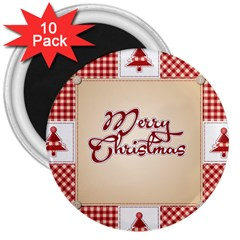 Christmas xmas Patterns Pattern 3  Magnets (10 pack)