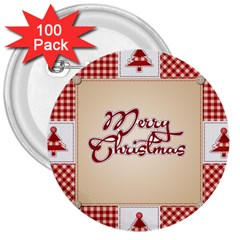 Christmas xmas Patterns Pattern 3  Buttons (100 pack)
