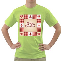 Christmas xmas Patterns Pattern Green T-Shirt