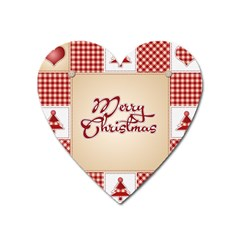 Christmas xmas Patterns Pattern Heart Magnet
