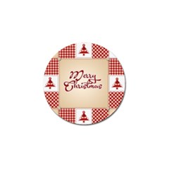 Christmas xmas Patterns Pattern Golf Ball Marker
