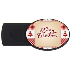 Christmas xmas Patterns Pattern USB Flash Drive Oval (4 GB)
