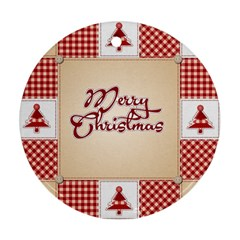 Christmas xmas Patterns Pattern Round Ornament (Two Sides)