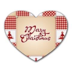 Christmas xmas Patterns Pattern Heart Mousepads