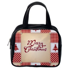 Christmas Xmas Patterns Pattern Classic Handbags (one Side)