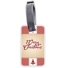 Christmas xmas Patterns Pattern Luggage Tags (Two Sides)