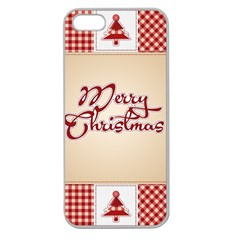 Christmas xmas Patterns Pattern Apple Seamless iPhone 5 Case (Clear)
