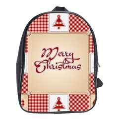 Christmas Xmas Patterns Pattern School Bags (xl)