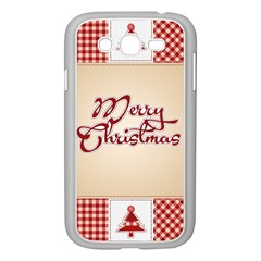 Christmas Xmas Patterns Pattern Samsung Galaxy Grand Duos I9082 Case (white)