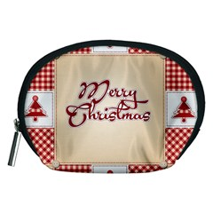 Christmas Xmas Patterns Pattern Accessory Pouches (medium)