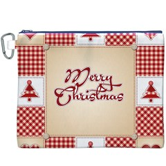 Christmas xmas Patterns Pattern Canvas Cosmetic Bag (XXXL)