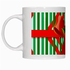 Christmas Gift Wrap Decoration Red White Mugs