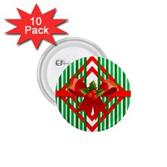 Christmas Gift Wrap Decoration Red 1.75  Buttons (10 pack)