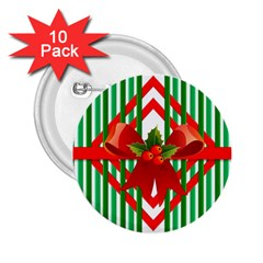 Christmas Gift Wrap Decoration Red 2.25  Buttons (10 pack)